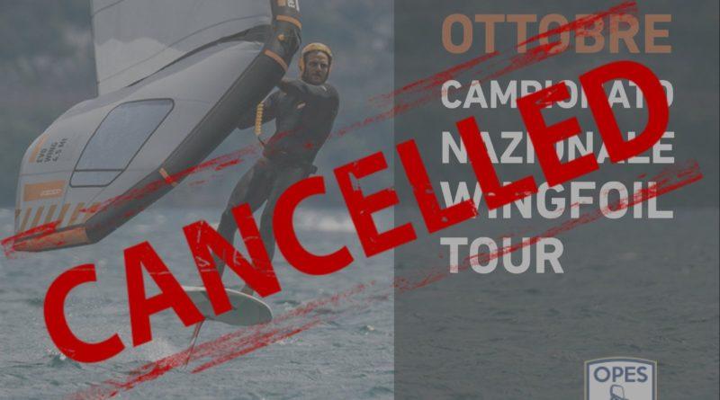 Annullata la tappa sul lago di Garda del Wing Foil Tour: il comunicato ufficiale